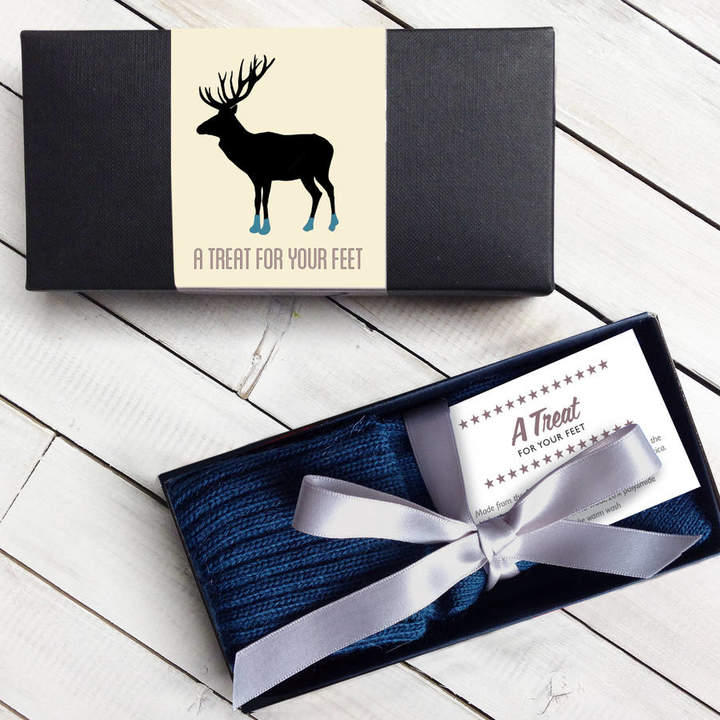 Quirky Gift Personalised Box Of Men's Gift Socks