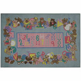 Asstd National Brand Teddies & Letters Rectangular Rugs