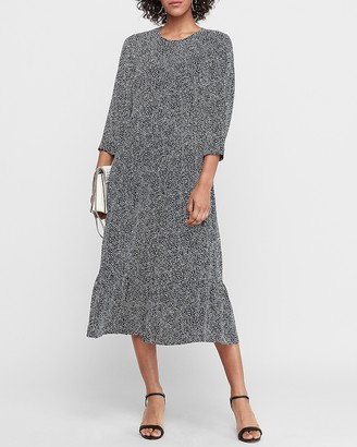 Express Spotted Shapeless Midi Dress