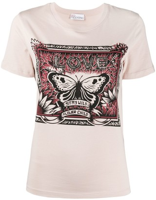 RED Valentino butterfly printed T-shirt