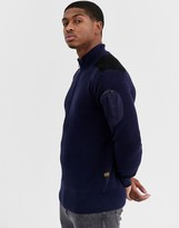 G Star G-Star Stagion half zip jumper in navy