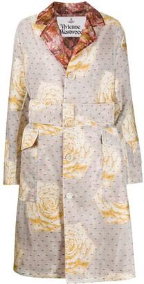 Vivienne Westwood Mixed-Print Belted Coat