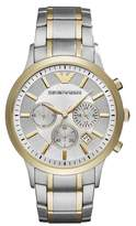 Emporio Armani Two-Tone Chronograph Bracelet Watch, 43mm