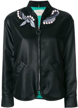 Marco De Vincenzo embroidered foulard bomber jacket