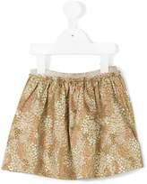 Gold Belgium floral print skirt