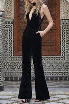 The Jetset Diaries Velvet Black Jumpsuit