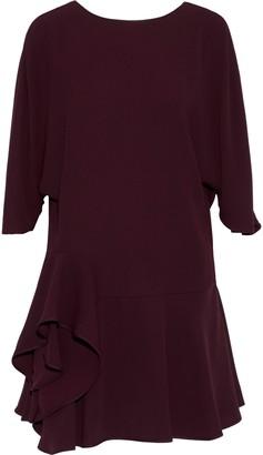 Halston Ruffled Cady Mini Dress