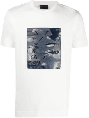 Emporio Armani abstract eagle print T-shirt