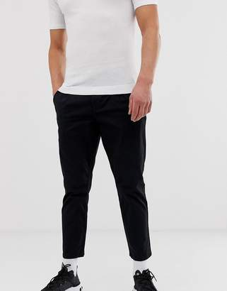 ONLY & SONS cropped chinos in black