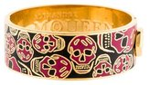 Alexander McQueen Wide Enamel Skull Head Bangle