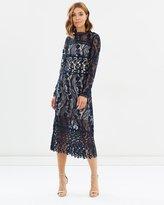 Miss Selfridge Lace Long Sleeve Midi Dress