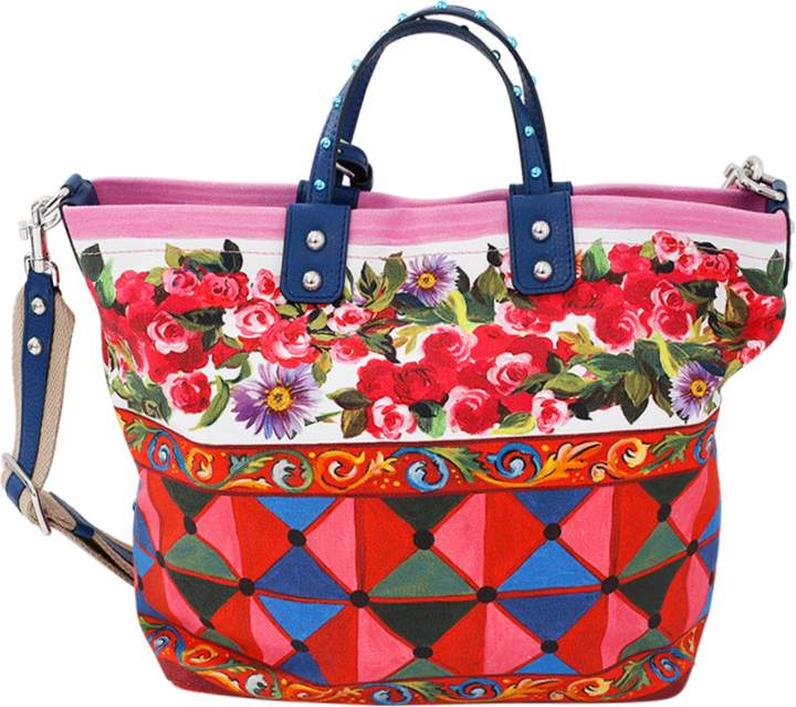 Dolce & Gabbana Rose Print Tote Bag