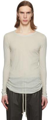 Rick Owens Off-White Rib Long Sleeve T-Shirt