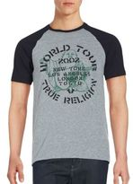 True Religion Printed Raglan Sleeve T-Shirt