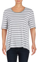 Lord & Taylor Striped High-Low Tee