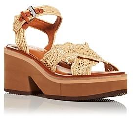 Clergerie Women's Charlize Wedge Platform Sandals
