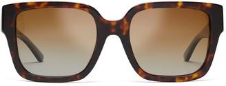 Tory Burch Reva Rectangular Sunglasses