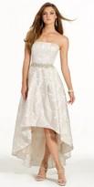 Camille La Vie Brocade Hi-low Prom Dress