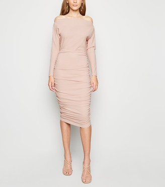 New Look AX Paris Ruched Bodycon Midi Dress