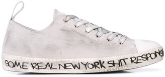 Haculla Distressed Low-Top Sneakers