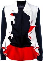 Capucci ruffle trim jacket - women - Viscose/Acetate/Spandex/Elastane/Polyester - 40