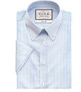Thomas Pink Higson Texture Classic Fit Short Sleeve Shirt