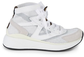 Roberto Cavalli Sport Chunky High-Top Knit Sneakers