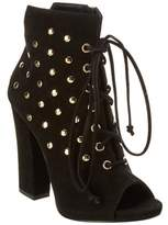 Giuseppe Zanotti Stud-embellished Suede Lace-up Bootie.