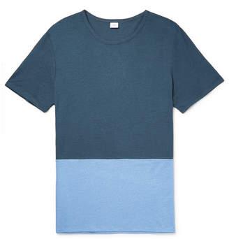 Onia Chad Colour-Block Linen And Modal-Blend T-Shirt