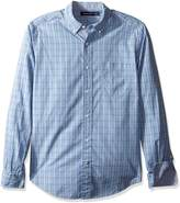 Nautica Men's Long Sleeve Medium Plaid Button Down Shirt