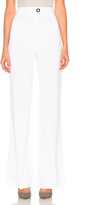 Cushnie et Ochs High Waisted Stretch Viscose Pant in White.