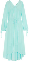 Maje Rutabaga Gathered Chiffon Midi Dress - Mint