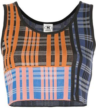 M Missoni Check Pattern Knit Top