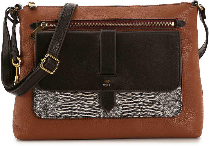 b553ae8a8e73 Fossil Leather Crossbody Bag - ShopStyle