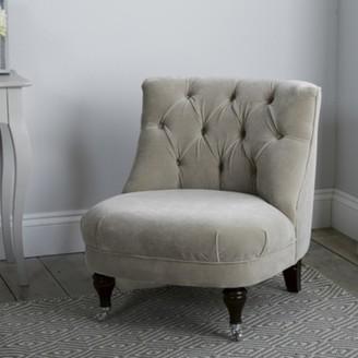 The White Company Richmond Velvet Tub Chair , Stone Velvet, One Size