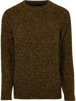 River Island Mustard Yellow Crew Neck Knit Jumper