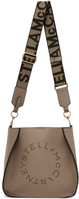 Stella McCartney Brown Logo Shoulder Bag