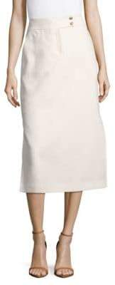 Lafayette 148 New York Ramona Solid Linen Skirt