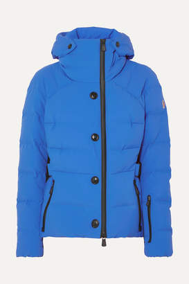 Moncler Guyane Belted Quilted Down Ski Jacket - Bright blue