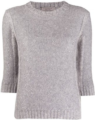 D-Exterior Glitter-Style Alpaca-Knit Jumper
