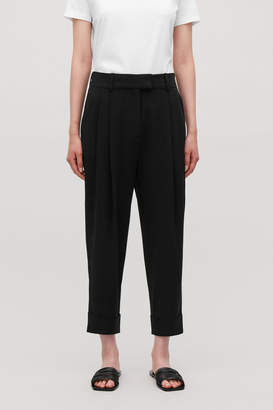 Cos DROPPED CROTCH TROUSERS WITH PLEATS