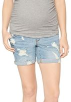 A Pea in the Pod Secret Fit Belly Boyfriend Maternity Shorts