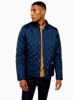 TopmanTopman BARBOUR BEACON Navy Starling Quilted Jacket