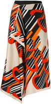 Carven printed wrap skirt