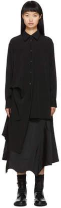 Yohji Yamamoto Black Right Side Picked Drop Shirt