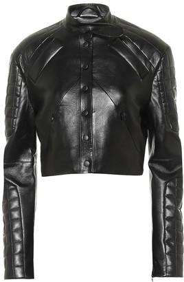 MATÉRIEL Faux leather biker jacket