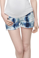A Pea in the Pod J Brand Secret Fit Belly Tie Dye Maternity Shorts