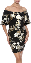 Cameo Foiled Floral Dress