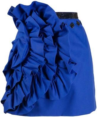 Loulou Embellished Ruffle Mini Skirt