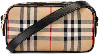 Burberry Micro Vintage Check Camera Bag in Archive Beige | FWRD